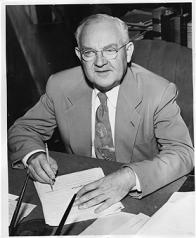 LA Mayor Fletcher Bowron. [9/5/52archival photo]