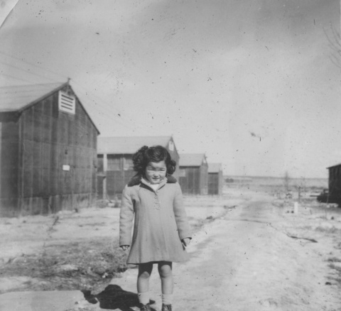 Little Girl Near Barracks DDR Frank Kubo Collection